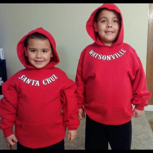 Youth Red Sweatshirt Support 81
